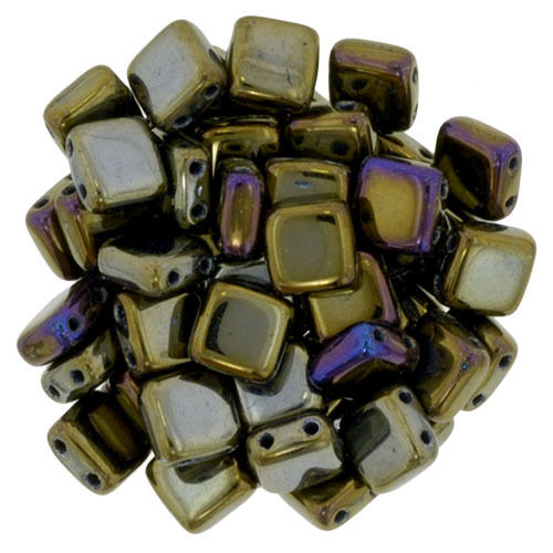 40 Stk. Cz. Mates Tile 6mm  Iris Brown