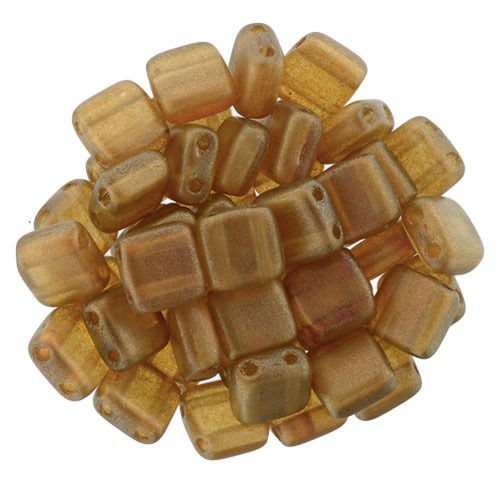 40 Stk. Cz. Mates Tile 6mm    Halo Sandalwood