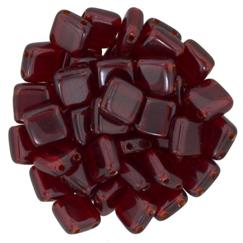 40 Stk. Cz. Mates Tile 6mm    Ruby