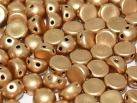 25 Stk. 2-Hole-Cabochon 6mm Fb.01710 Aztec gold