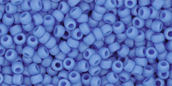10g Toho Round 11/0  Fb. 0043DF   Opaque Frosted Cornflower